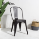 Stackable industrial restaurant metal dining chairs wholesale
