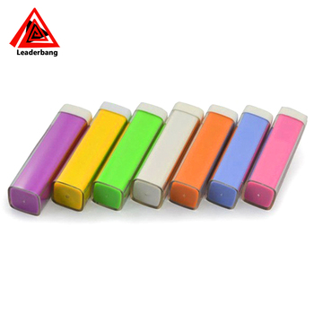 Top Seller Universal Portable Lipstick Power Bank 2600mAh Emergency 2600mah Battery Charger For Mobile Phone