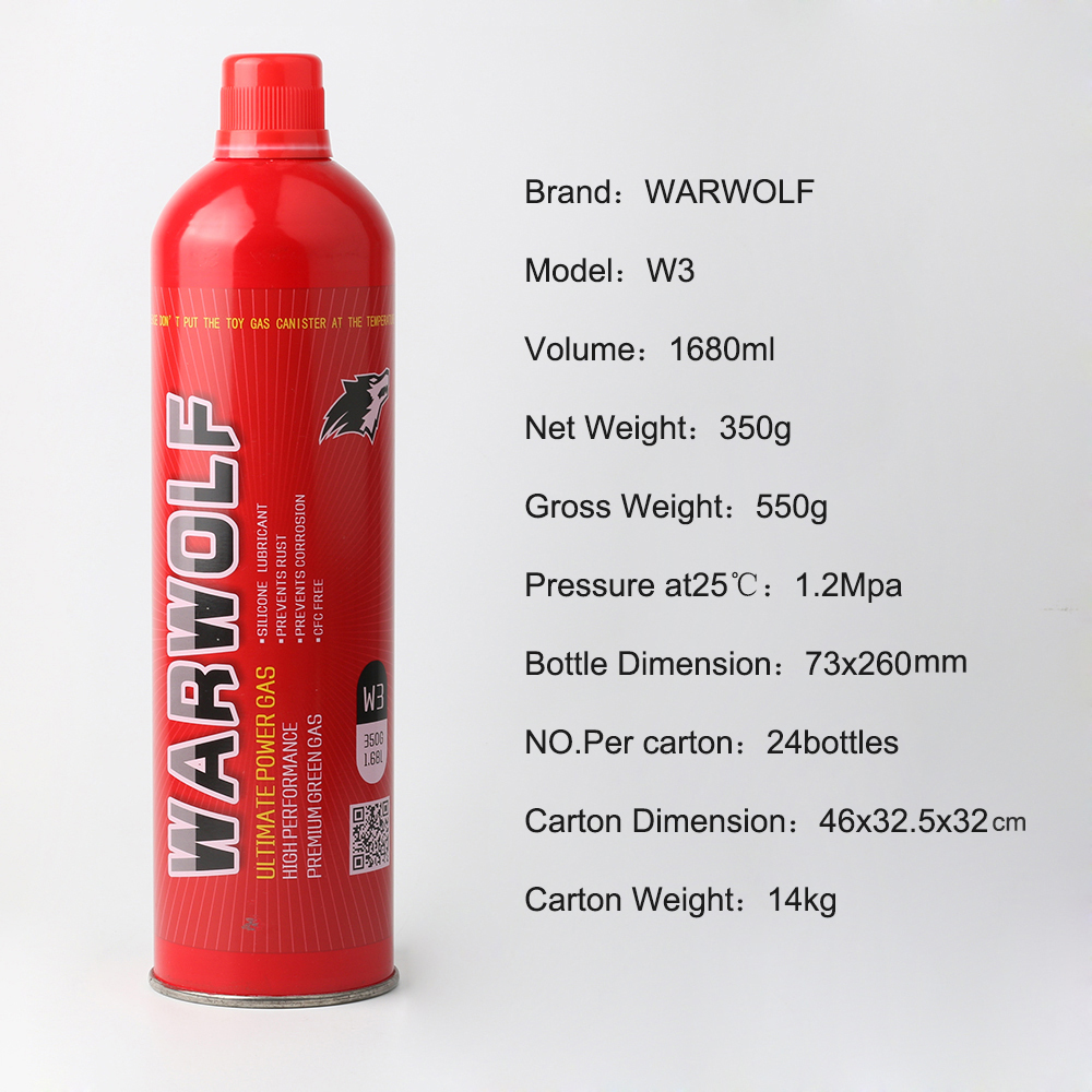 warwolf brand green Gas for Airsoft