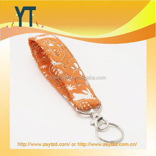 Orange Keychain, Fabric Key Fob With Snap, Fox, Hedgehog, and Bunny