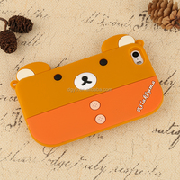 kawaii little bear bag silicone phone cover for l phone 6s
