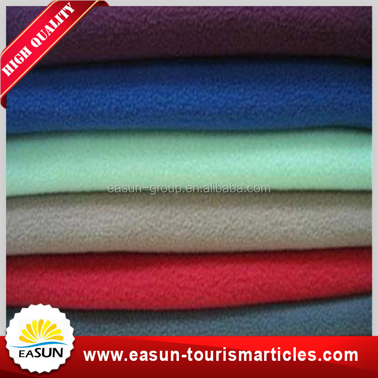 Cheap promotional colorful plain dyed embroidery logo moving thick polar fleece blanket