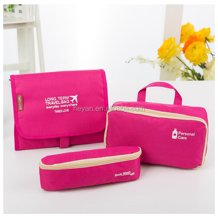 Fashion New Design Travel Toilet Bags Cometic Bags 3pieces Sets