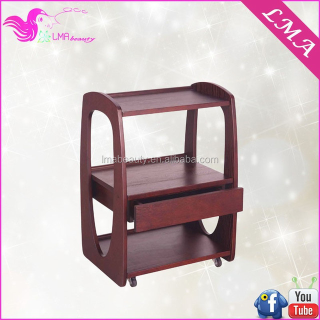 beauty spa furniture salon working trolley with drawer