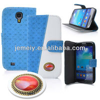 stand luxurious jewel leather flip case for samsung galaxy s4 i9500