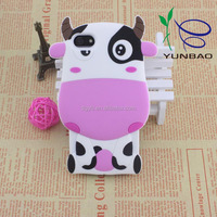perfect pink and white cow shape silicone compatible brand case for cell phone