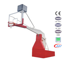 Professional tempered glass backboard movable basketball hoops/basketball stand