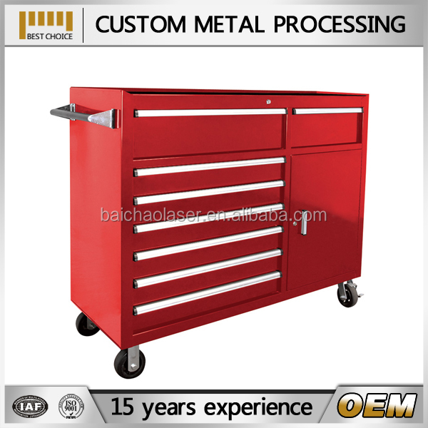 OEM mobile cold roll steel storage shelves tool cart with high quality