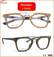 new design women fancy imitation wooden acetate spectacle frame eyeglasses