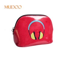 MANUFACTURERS NEW WATERPROOF PROFESSIONAL LOGO CUSTOM RED PU LEATHER PRINTING GIFT COSMETIC BAG