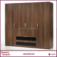 Melamine MDF board ready to easy to assemble hinge door wardrobe bedroom furniture