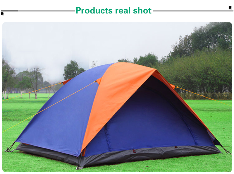 Hot sale 2 Person Double Layer Uv-anti Waterproof hiking Tent outdoor family Camping Tent