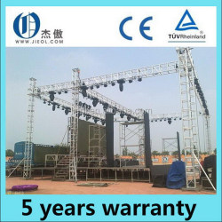 Aluminum alloy spigot truss holding led and line speaker