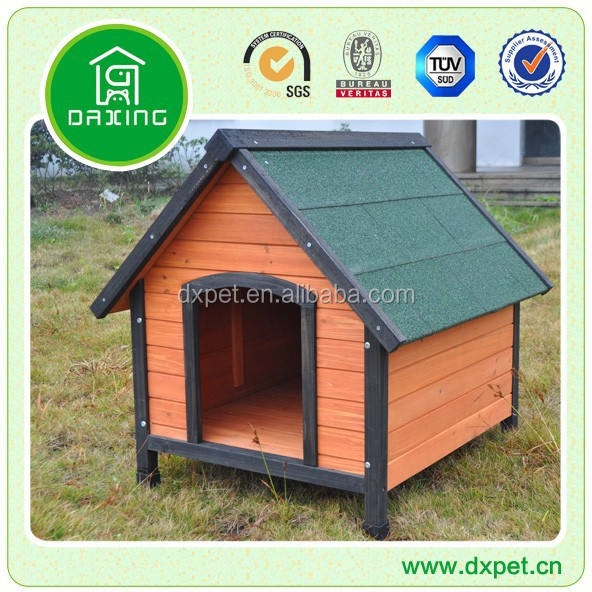 DXDH011 natural color outdoor pet dog house wooden