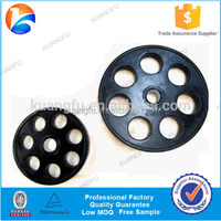 Alibaba Golden China supplier Black seven holes rubber coated weight lifting plate