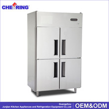 Meat display refrigerator freezer with compressor with 4 doors