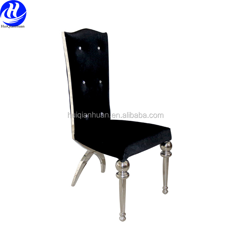 Wedding stainless steel chair with oval back