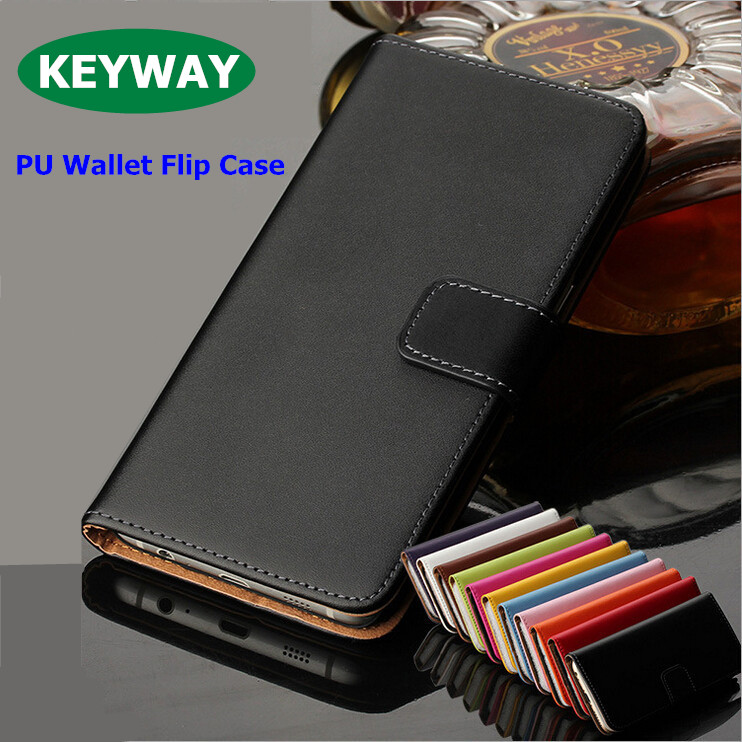 Premium Geniune Leather Wallet Case Wth Card Slot Flip Cover Case For samsung S3 S4 S5 S6 S7 edge