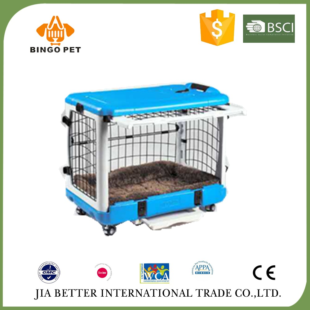 2017 folding removable pet display cage with wheels