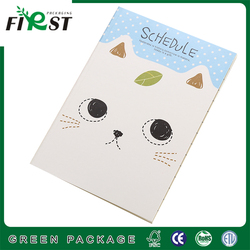 Quality products note book printed design,notebook docking station,white book bound notepad