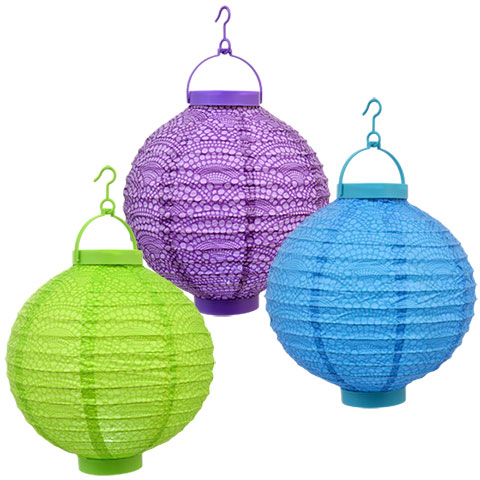 High quality battery operated hanging LED paper lantern