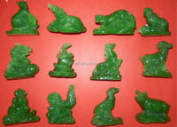 chinese zodiac animals statue FengShui decor/rat/ox/tiger/rabbit/dragon/snake/horse/sheep/monkey/cock/dog/pig sculpture
