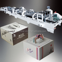 Cardboard Box Four Six Corner automatic carton glue machine