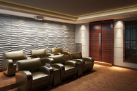 demax popular 3d wall panel sea wave design