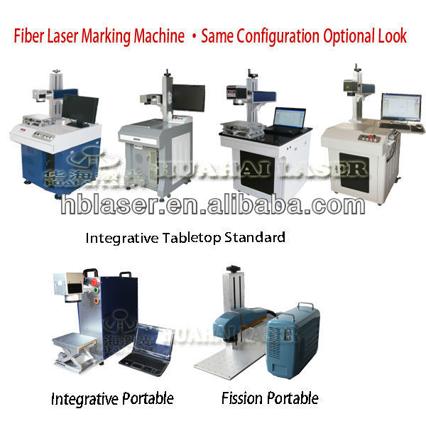 10W/20W Fiber greeting card laser printing machine with high quality