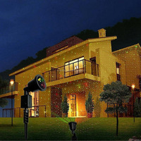 Laser Light Outdoor Indoor Laser Lights show LED Projector IP65 Waterproof Red and Green Landscape Spotlights for Christmas