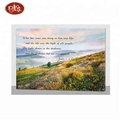 hot selling spring scenery painting with fibers for wall decor