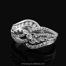 2015 Alibaba new product with low price silver 925 wedding ring