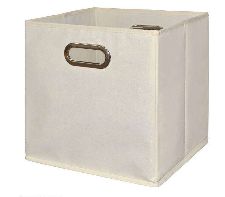 No-woven fabric collapsible cuber supplier canvas boxes bin wholesale