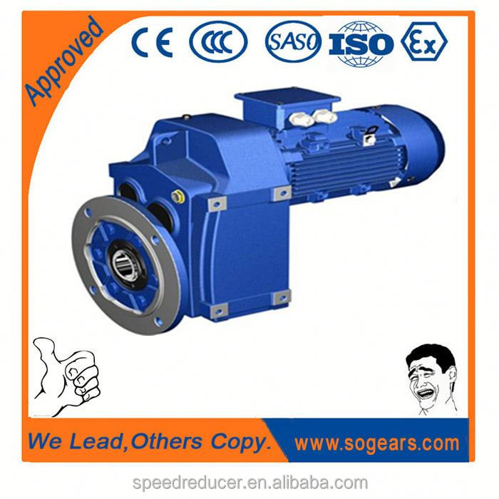 NISSIE equivalent F107 Parallel Shaft helical reduction motor gearbox With Drive Transmission Gears