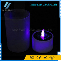 Solar LED Candle Light Flameless Tea Candle With Cup