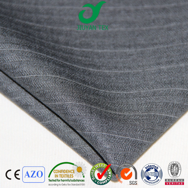 Super wool mode trw twill stripe Italy worsted quality men suiting soft textile fabric with customized English selvedge