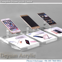 Acrylic mobile phone exhibition display stand holder
