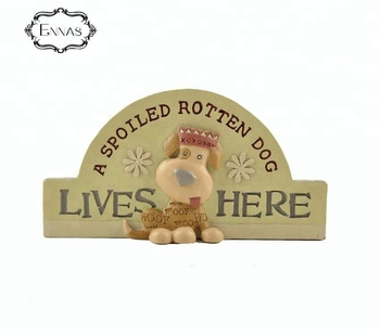 "Resin crafts 3D dog statue words "" did not ""home decoration for souvenir"