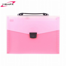 School file case A4 plastic PP document file with handle and lock from BSCI manufacture