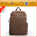 Leather bags factory custom vintage canvas backpack