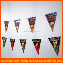 Custom event time different material how to sew bunting banner