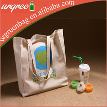 Green Fabric Small Canvas Tote Bags Wholesale Natural White