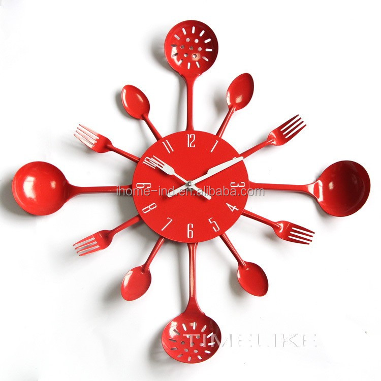 innovation spoon and fork 16 inch kitchen decoration wall clock