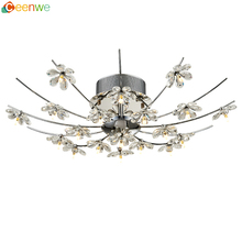New products wholesale Egypt Asfour crystal 19 light chrome silver flower modern decorate ceiling net lights
