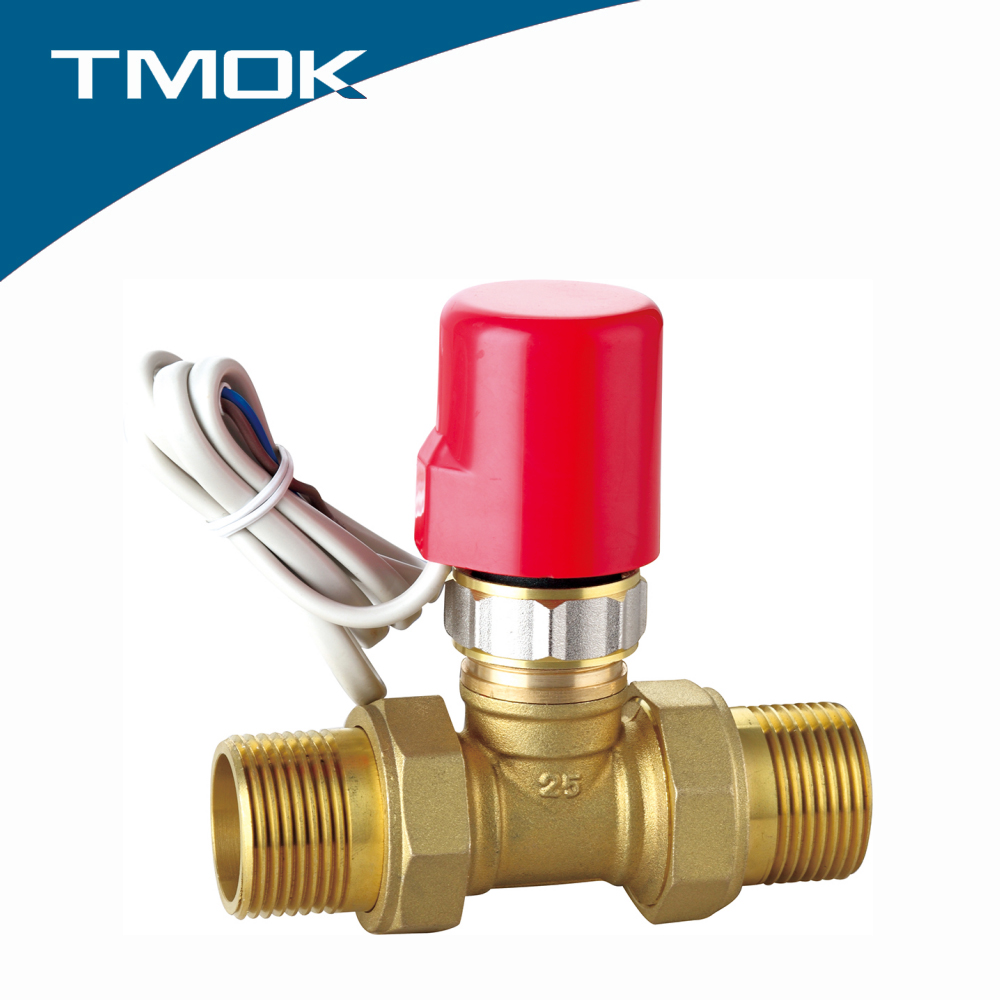 equal shape cw617 material brass Electric male thread stop valve with plastic cap and solenoid