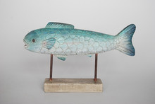 home decor deck carving glass fish resin crafts