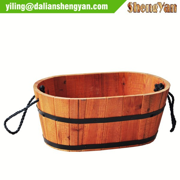 Flower pot wooden trough, wood planter