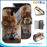 Lion pattern pu leather mobile phone case for Blu Neo 4.5
