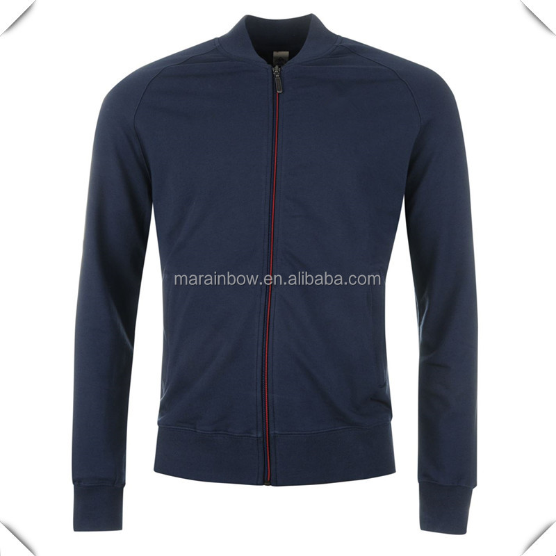 OEM high quality stylish premium quality 96% cotton 4% elastane track top jackets with Full length zip customized for sports