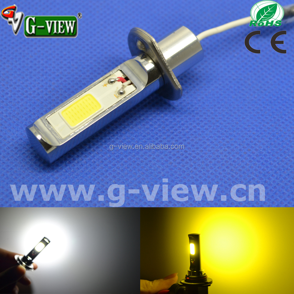 high power golden yellow fog lamp h1 led light h3 automotive led
